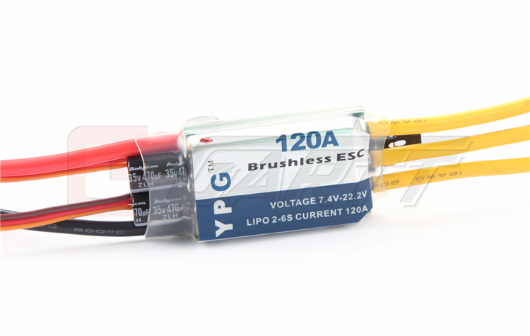 YPG LV-120A brushless ESC