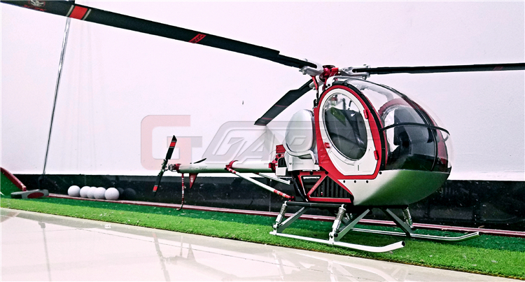 Schweizer Red300C Hughes Metal and High Simulation RC helicopter