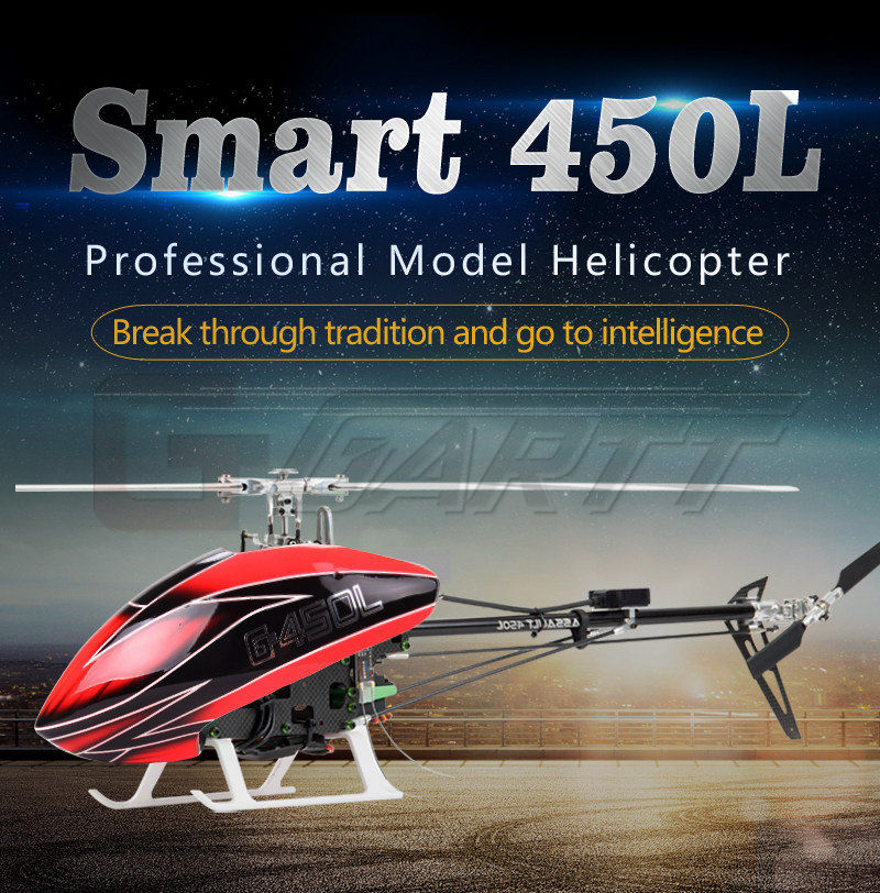 GARTT Smart 450L RC RTF helicopter aircraft for training 6CH UAV
