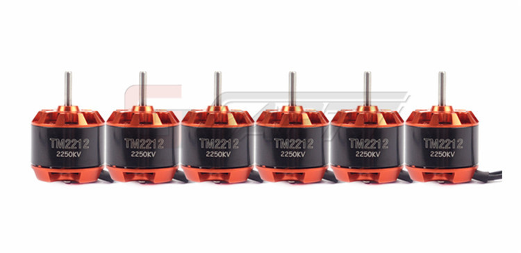 6Pcs TM2212 2250KV Brushless Motor