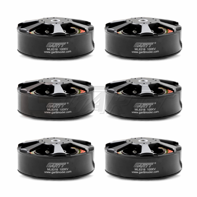 6pcs GARTT ML 8318 100KV Brushless Motor