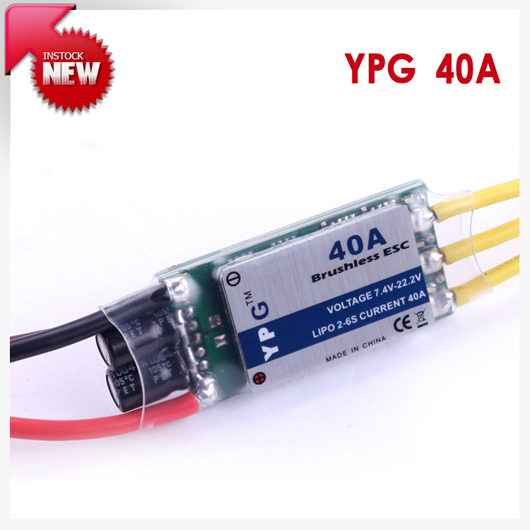 YPG LV-40A brushless ESC