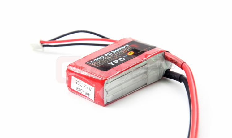 2Pcs YPG 7.4V 850mAh 25C 2S LiPo Battery with Traxxas Connector
