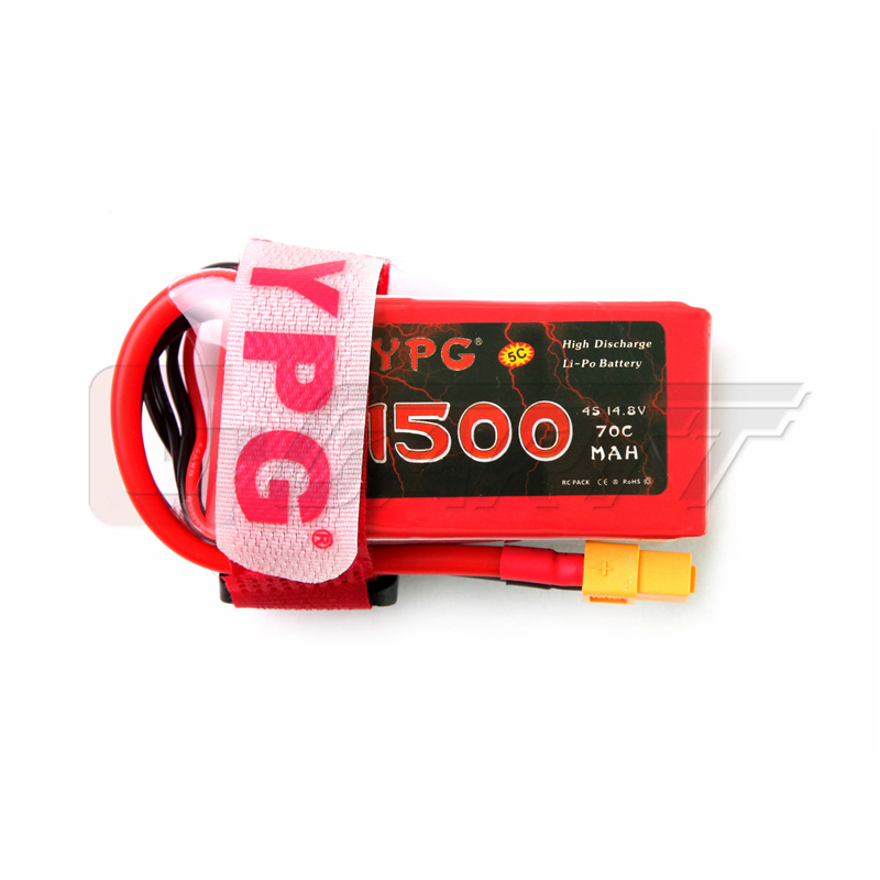 YPG 4S 14.8V 1500mAh 70C LiPo Battery with XT60 Connector